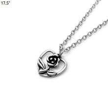 17.5˚ Heart Frame Flower Necklace 1ea,Beauty Box Korea
