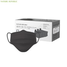 NATURE REPUBLIC Nature Three Layered Protective Health Mask #Black 50ea