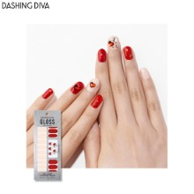DASHING DIVA Big Stone Gloss Ultra Shine Gel Nail Strip 1ea [Glitter Bomb]