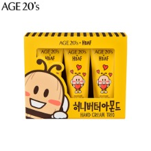 AGE 20'S Moisture Hand Cream Honey Butter Almond Edition 3items [AGE 20'S X HBAF]