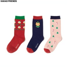 KAKAO FRIENDS Christmas Socks Gift Set 3pair [2020 White Christmas Edition]
