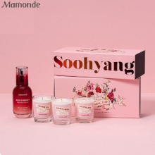 MAMONDE Red Energy Recovery Serum+Soohyang Mini Candle Set 4items [MAMONDE X SOOHYANG Blossoming Life]