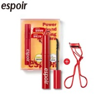 ESPOIR Nomudging Mascara Waterproof XP With Curler Special Set 2items