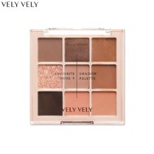 VELY VELY Favourite Nine 9 Shadow Palette 8.1g