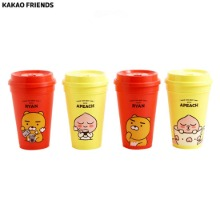 KAKAO FRIENDS Ryan's Cafe Reusable Tumbler Set 4item,Beauty Box Korea