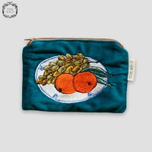 THE WILD Velvet Card Pouch (Grape&Orange) 1ea,Beauty Box Korea
