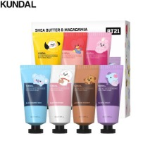 KUNDAL BT21 Shea Butter & Macadamia Pure Hand Cream 50ml Gift Set 7items