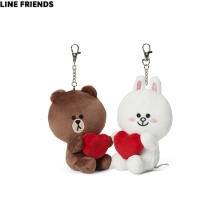 LINE FRIENDS Brown & Cony Heart Sitting Ring Doll Set 2items