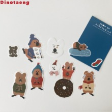 DINOTAENG Snow In Marshville Sticker Pack ver. 2 1ea