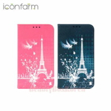 ICONFARM 6Items Eiffel Fantasy Book Diary Phone Case,ICONFARM