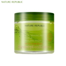 NATURE REPUBLIC Jeju Sparkling Triple Peeling Pads 70ea (140g),NATURE REPUBLIC