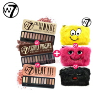 W7 Natural Nudes Eye Colour Palette & Furry Pouch Set 15.6g,W7