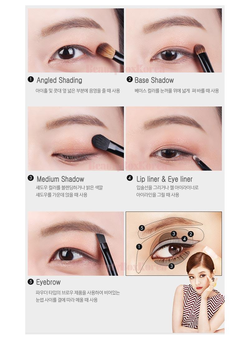 Tonymoly Makeup Brush Set 5items Best