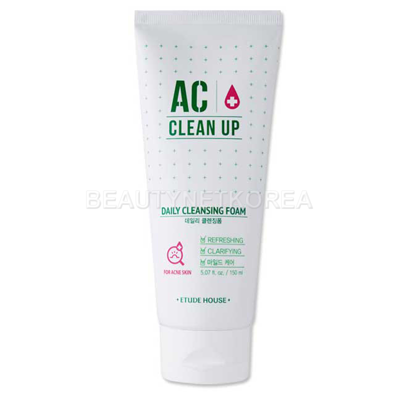 [ETUDE HOUSE] AC Clean Up Daily Cleansing Foam 150ml (Weight : 194g)