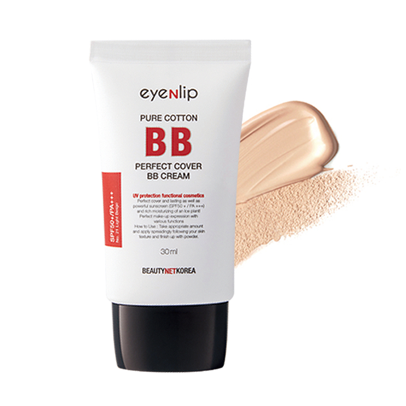 [EYENLIP] Pure Cotton Perfect Cover BB Cream (SPF50+/PA+++) 30ml 3 Color [Renewal in 2019] (Weight : 44g)