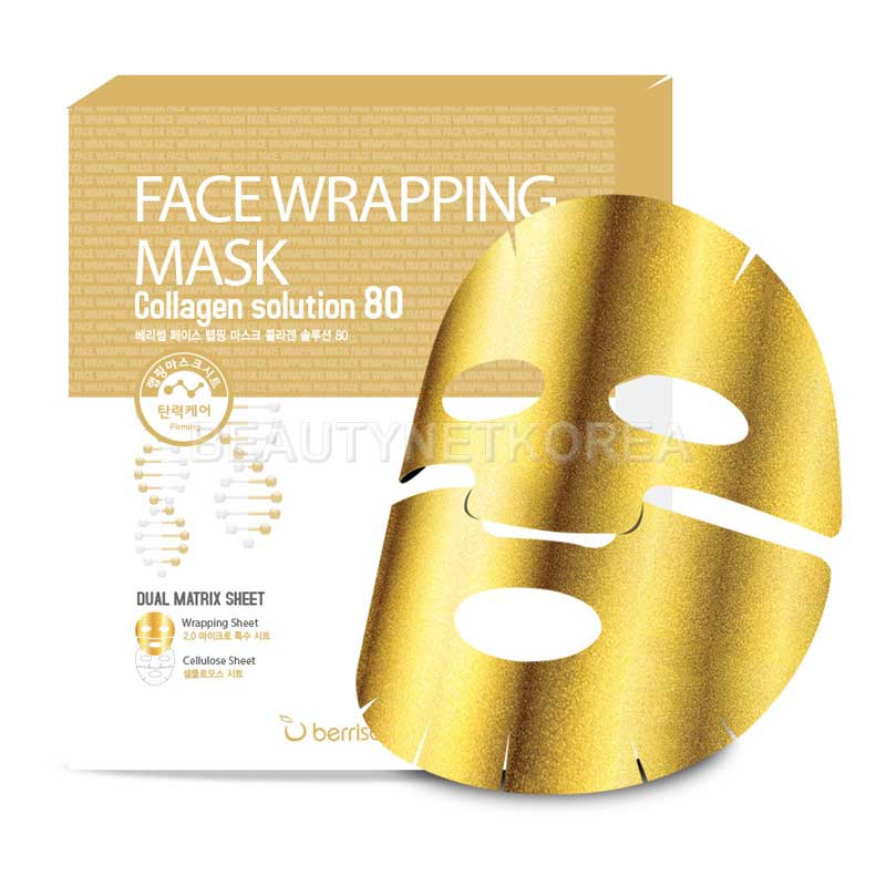 [BERRISOM] Face Wrapping Mask Collagen Solution 80 27g (Weight : 38g)