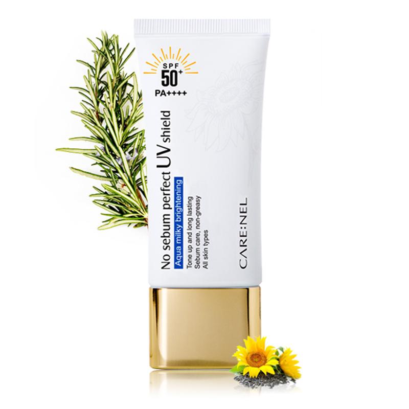 [CARENEL] No Sebum Perfect UV shield (SPF50+/PA++++) 50ml (Weight : 88g)
