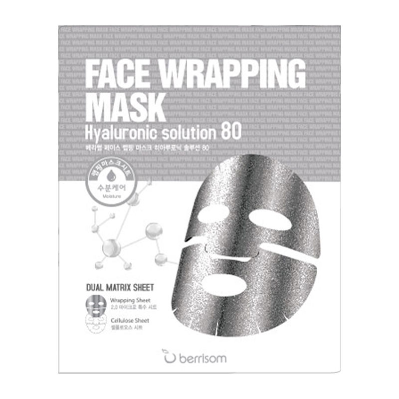 [BERRISOM] Face Wrapping Mask Hyaluronic Solution 80 27g (Weight : 38g)