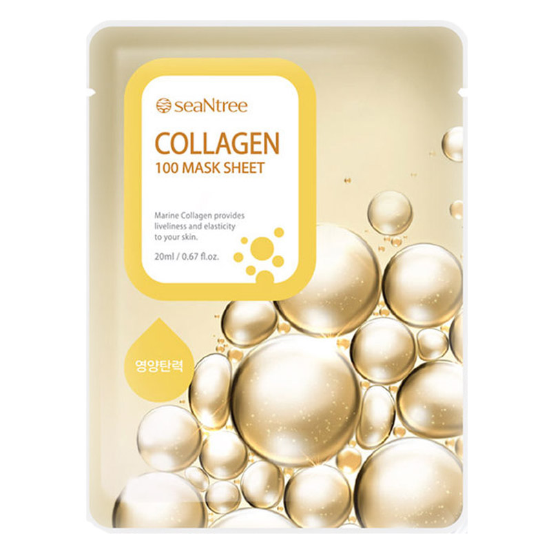 [SEANTREE] Collagen 100 Mask Sheet 20ml (Weight : 27g)