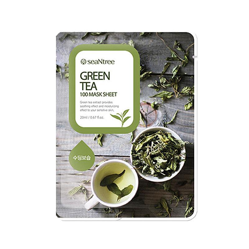 [SEANTREE] Green Tea 100 Mask Sheet 20ml (Weight : 27g)