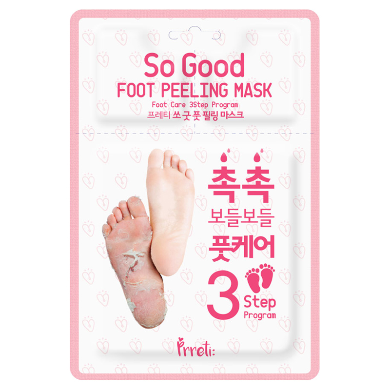 [PRRETI] So Good Foot Peeling Mask 3-Step Program 1pair (Weight : 72g)