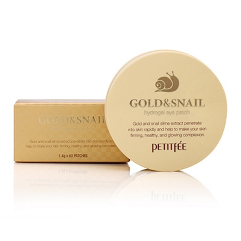 [PETITFEE] Gold & Snail Hydrogel Eye Patch (1.4g*60pcs) (Weight : 189g)