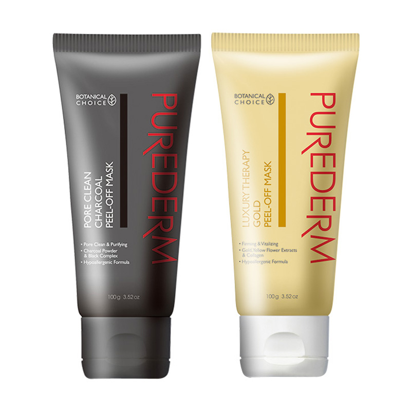 [PUREDERM] Peel-Off Mask 2 Type 100g (Tube) (Weight : 126g)