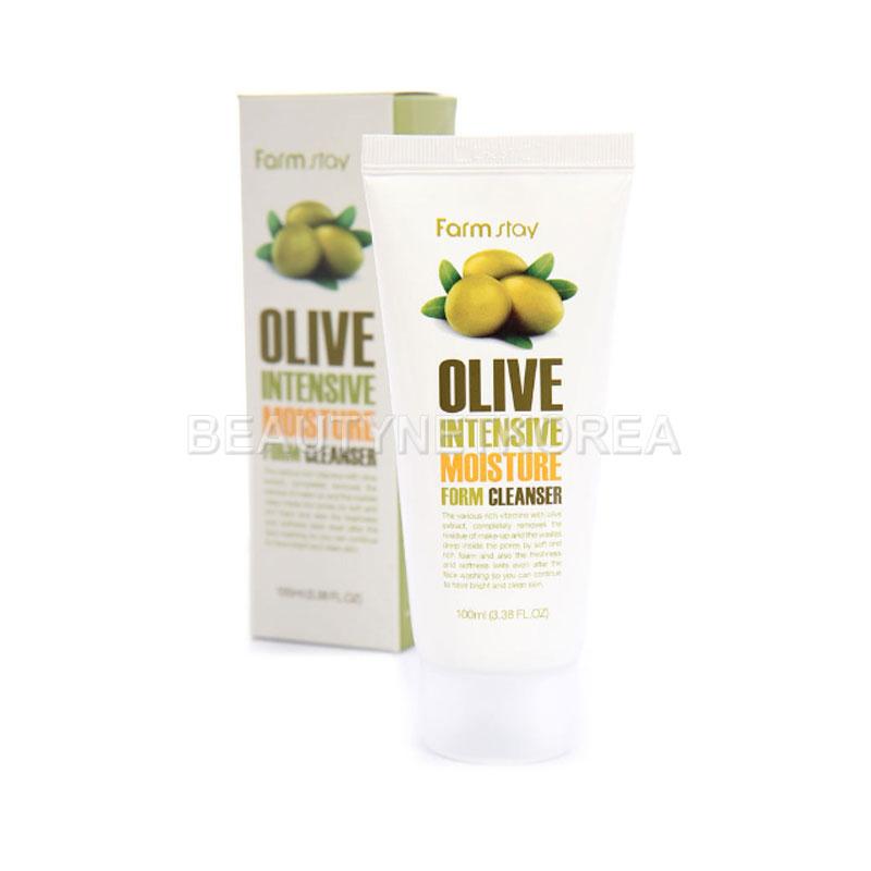[FARM STAY] Olive Intensive Moisture Foam Cleanser 100ml (Weight : 137g)