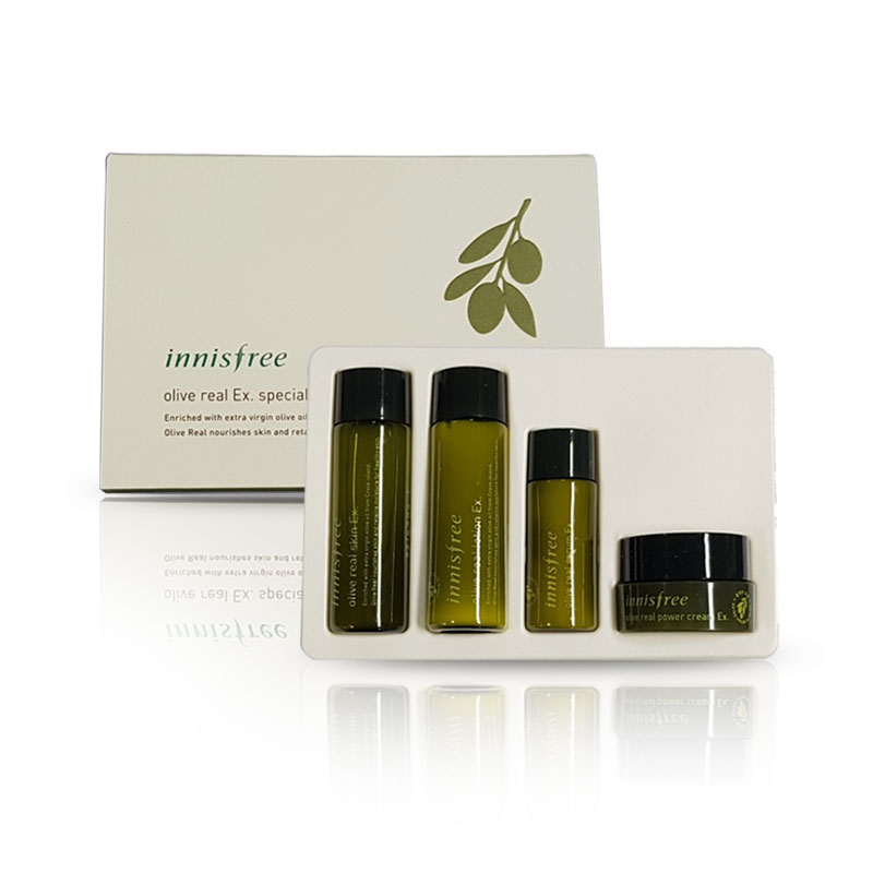 [INNISFREE] Olive Real Ex. Special Kit [Sample Kit] (25ml+25ml+15ml+10ml) (Weight : 162g)