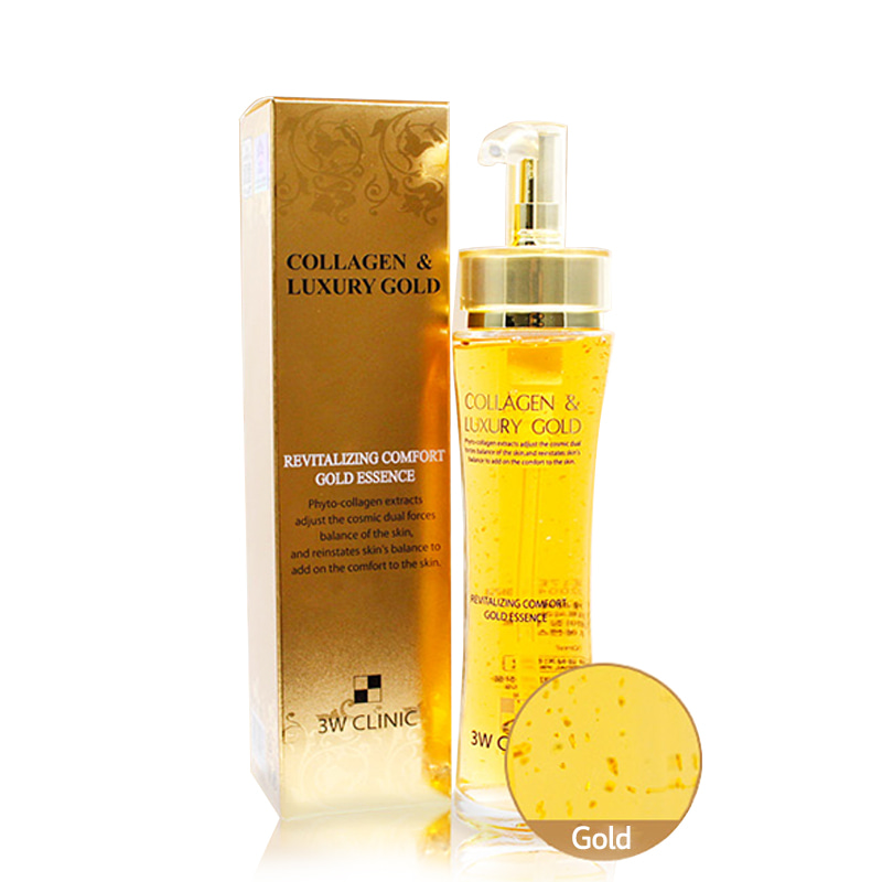 [3W CLINIC] Collagen & Luxury Gold Revitalizing Comfort Gold Essence 150ml (Weight : 421g)