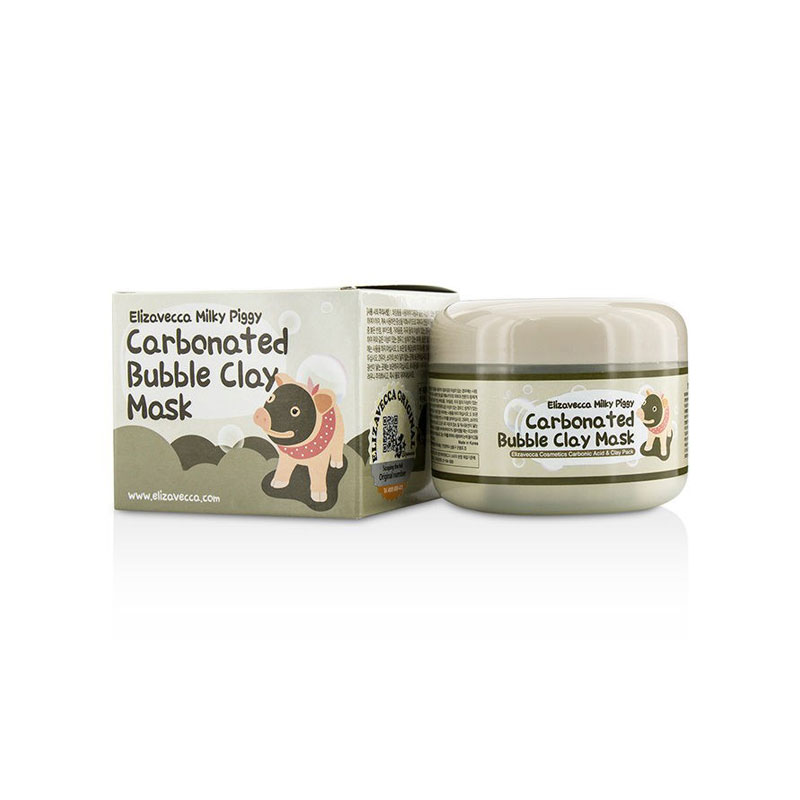 [ELIZAVECCA] Milky Piggy Carbonated Bubble Clay Mask 100g   (Weight : 168g)