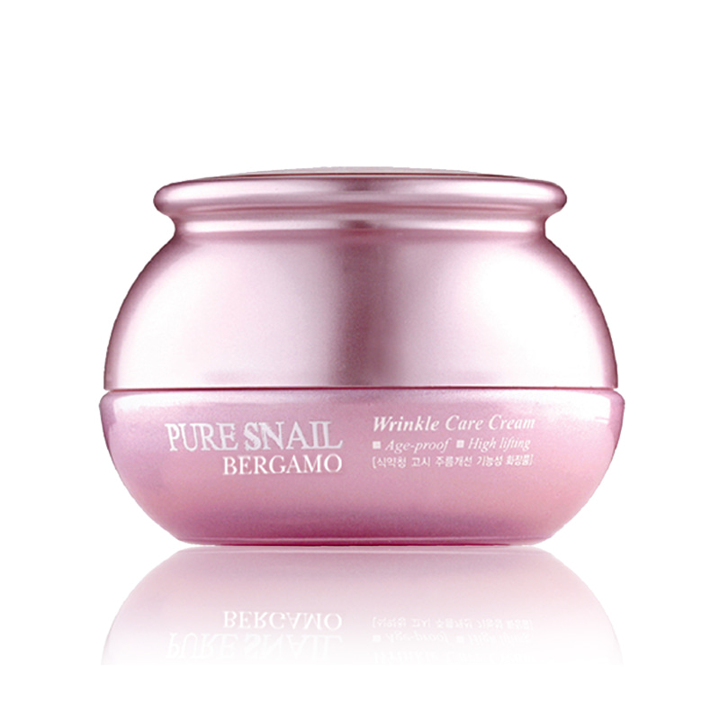 [BERGAMO] Pure Snail Wrinkle Care Cream 50g (Weight : 234g)
