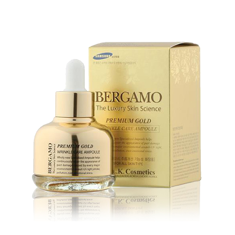 [BERGAMO] Premium Gold Wrinkle Care Ampoule 30ml (Weight : 150g)