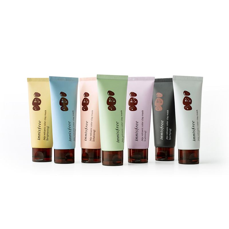 [INNISFREE] Jeju Volcanic Color Clay Mask 70ml 7 Type (Weight : 118g)
