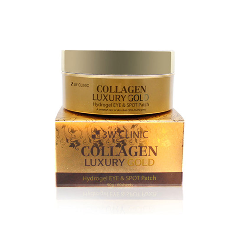 [3W CLINIC] Collagen Luxury Gold Hydrogel Eye & Spot Patch 90g / 60Sheets (Weight : 164g)