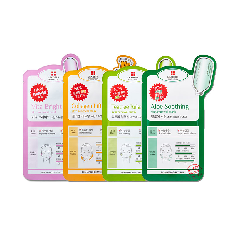 BIG SALE - [LEADERS] Insolution Skin Renewal Mask 4 Types 25ml * 1pcs (Weight : 36g)