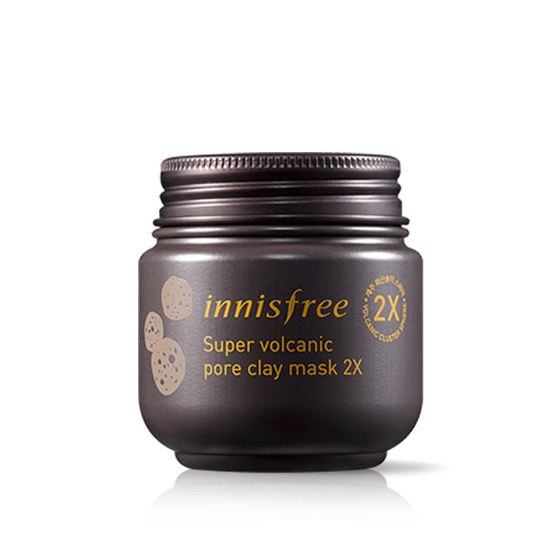 [INNISFREE] Super Volcanic Pore Clay Mask 2X 100ml (Weight : 162g)
