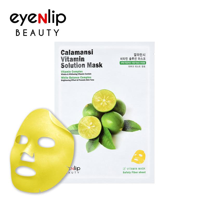 [EYENLIP] Calamansi Vitamin Solution Mask 25ml * 1pcs (Weight : 37g)