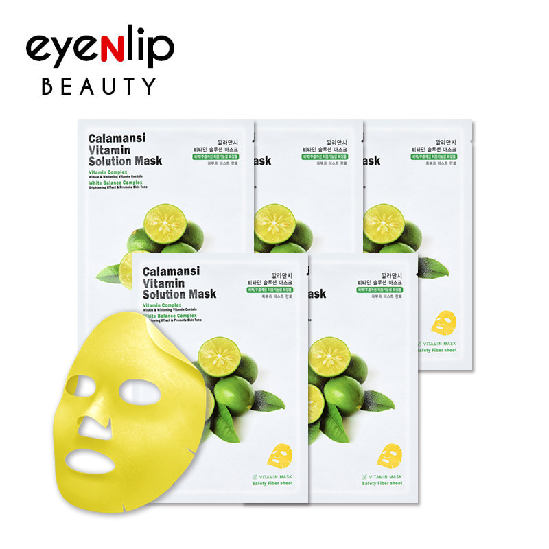 [EYENLIP] Calamansi Vitamin Solution Mask 25ml *  5pcs  (Weight : 223g)