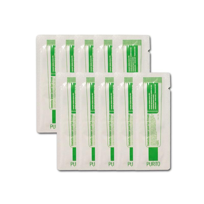 [PURITO] Centella Green Level Eye Cream 10pcs [Sample] (Weight : 16g)