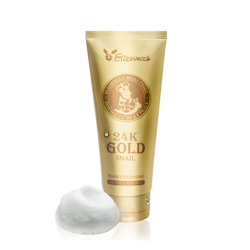 [ELIZAVECCA] Milky Piggy 24K Gold Snail Foam Cleansing 180ml (Weight : 242g)