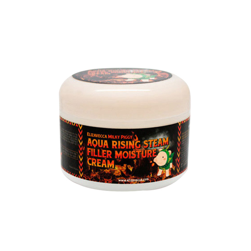 [ELIZAVECCA] Milky Piggy Aqua Rising Argan Gelato Steam Cream 100g (Weight : 171g)
