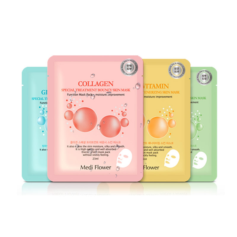 [MEDI FLOWER] Special Treatment Skin Mask 23ml * 1pcs 4types (Weight : 32g)