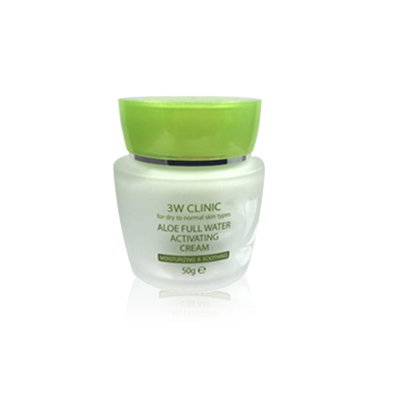 [3W CLINIC] Aloe Full Water Activating Cream 50g (Weight : 221g)