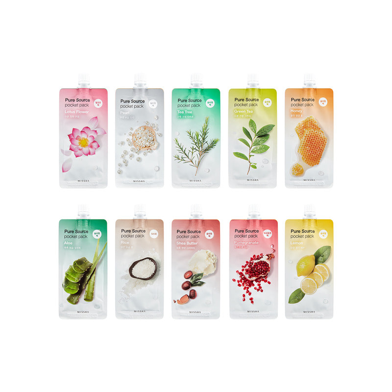 [MISSHA] Pure Source Pocket Pack 10 Types 10ml (Weight : 15g)