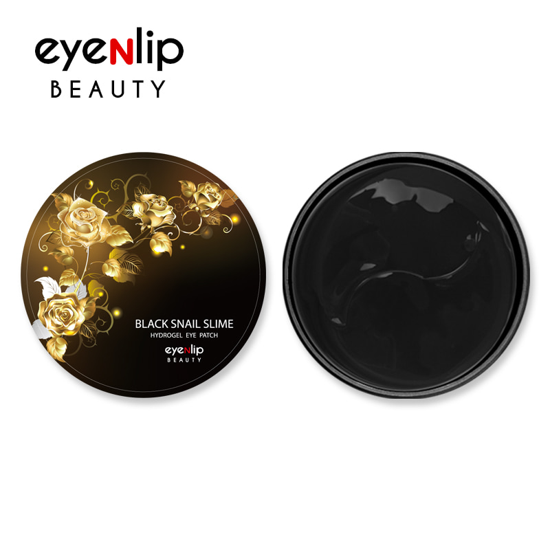 [EYENLIP] Black Snail Slime Hydrogel Eye Patch 84g (1.4g * 60ea) (Weight : 176g)