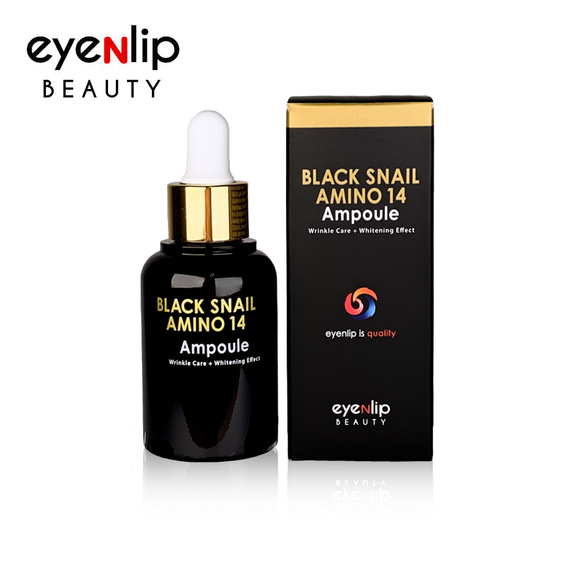 [EYENLIP] Black Snail Amino 14 Ampoule 30ml (Weight : 71g)