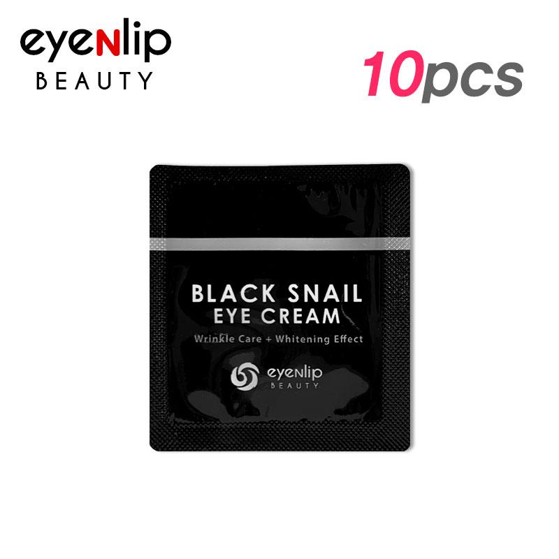 [EYENLIP] Black Snail Eye Cream 1.5ml * 10pcs [Sample] (Weight : 27g)