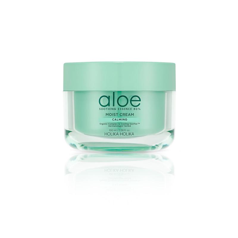 [HOLIKA HOLIKA] Aloe Soothing Essence 80% Moist Cream 100ml (Weight : 256g)