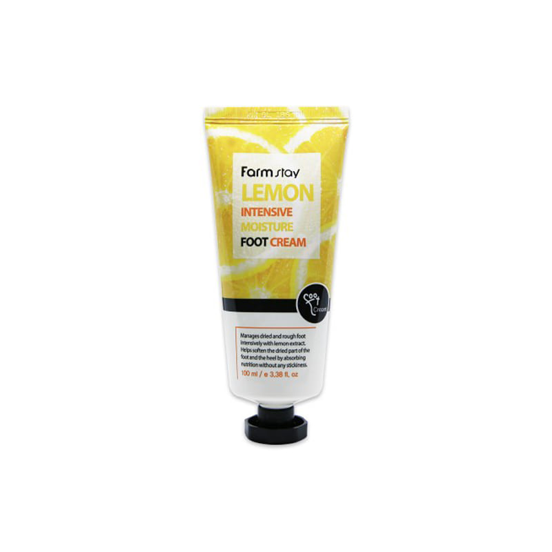 [FARM STAY] Lemon Intensive Moisture Foot Cream 100ml (Weight : 128g)